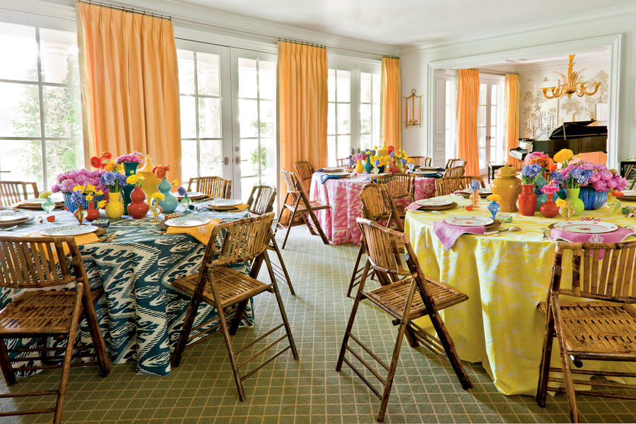 Colorful Bridal Luncheon Table Setting