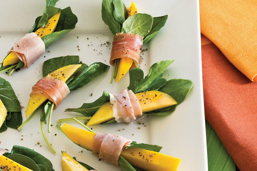 Healthy Food Recipe: Prosciutto-Wrapped Mango Bites