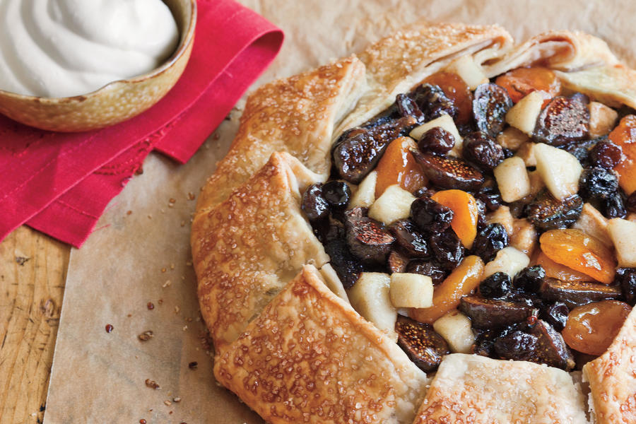 How To Make a Fruit Tart: Tipsy Spiced Fruit Tart with Buttermilk Whipped Cream