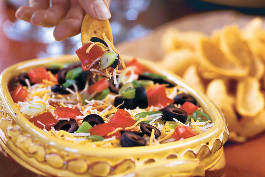 Layered Spicy Black Bean Dip recipe