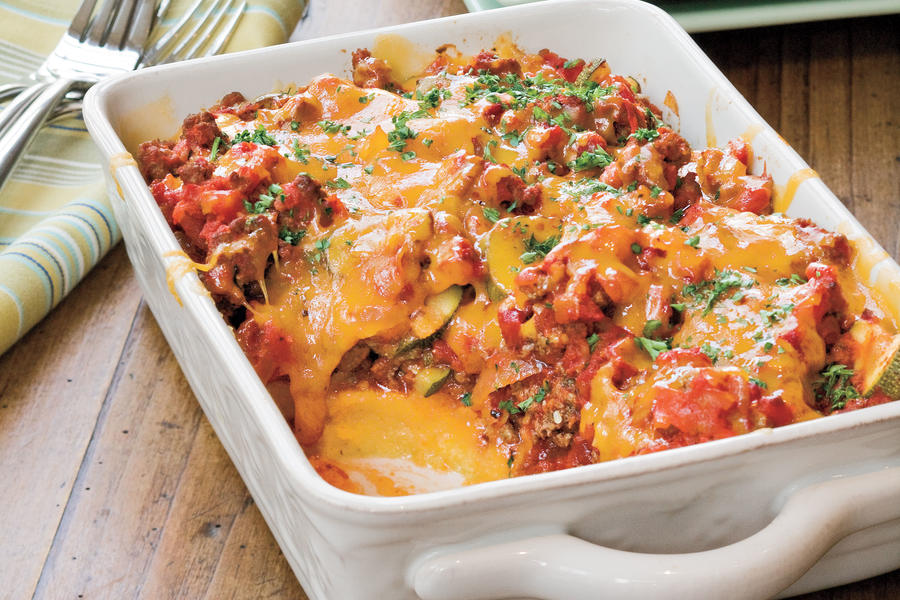 Ground Beef Recipes: Tomato 'n' Beef Casserole With Polenta Crust