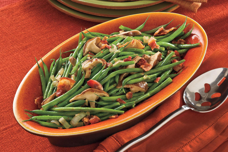 Green Beans With Mushrooms and Bacon Recipes