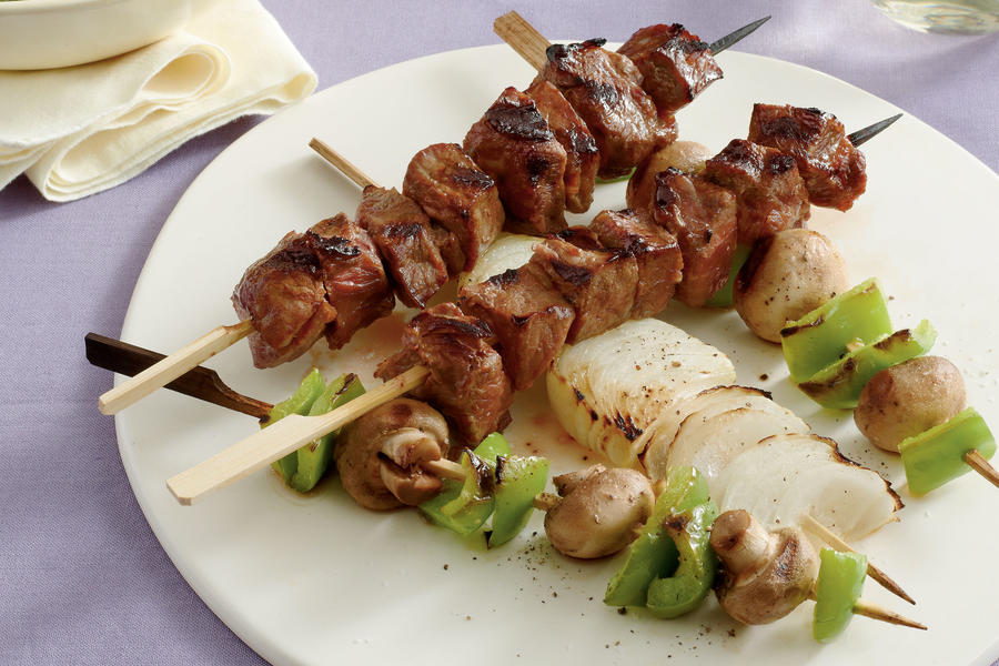 Grilled Steak and Vegetable Kabobs