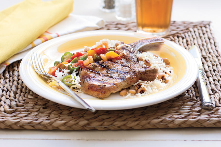 Quick and Easy Dinner Recipes: Grilled Basil-and-Garlic Pork Chops