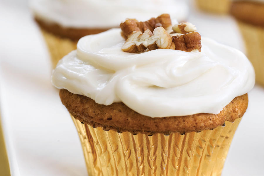 Cupcake Recipes: Sweet Potato-Pecan Cupcakes With Cream Cheese Frosting
