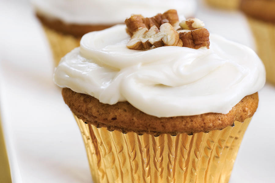 Sweet Potato-Pecan Cupcakes Recipe