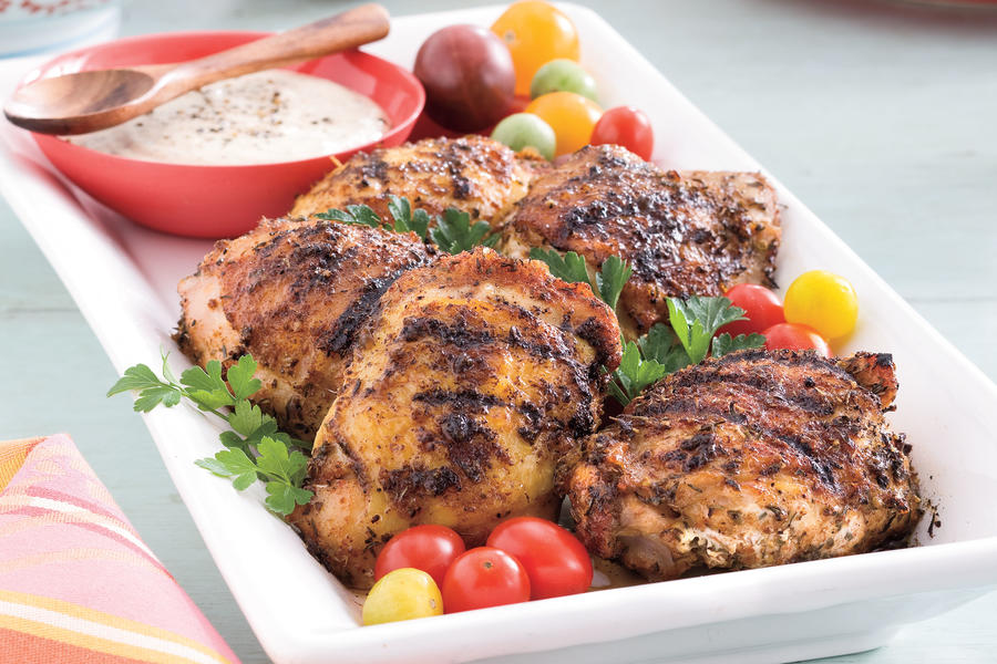 Fourth of July Menu: Grilled Chicken Thighs with White Barbecue Sauce