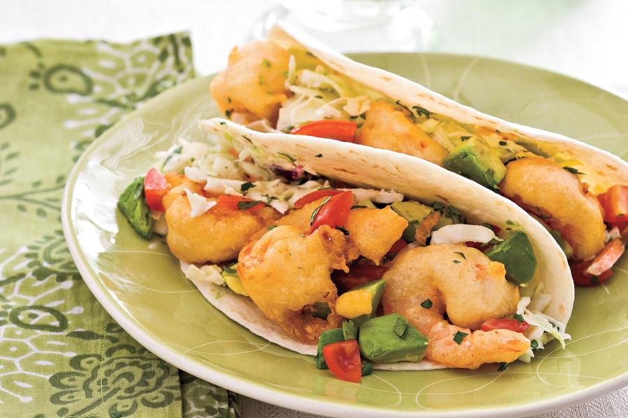 Easy, Healthy Seafood Recipes: Tempura Shrimp Tacos