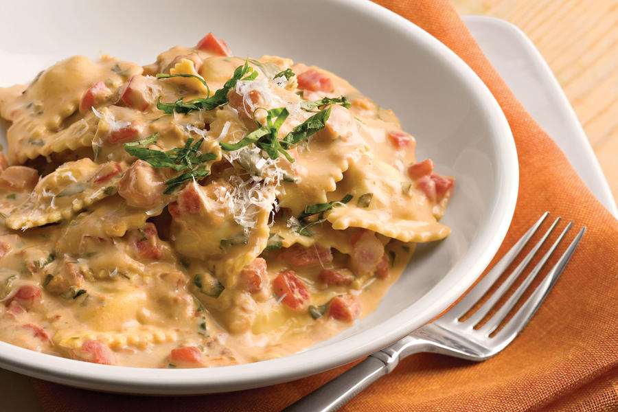 Tuscan Pasta With Tomato-Basil Cream Recipe