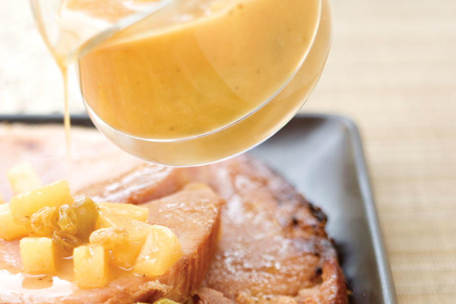 Ham Steak With Orange Glaze