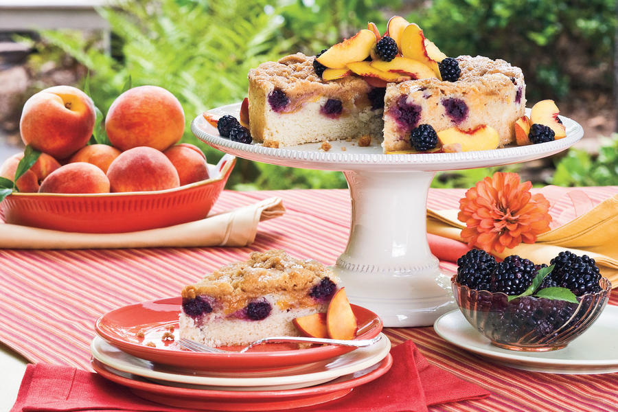 Blackberry-Peach Coffee Cake