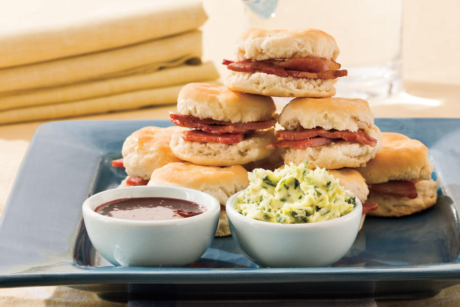 Country Ham and Biscuits