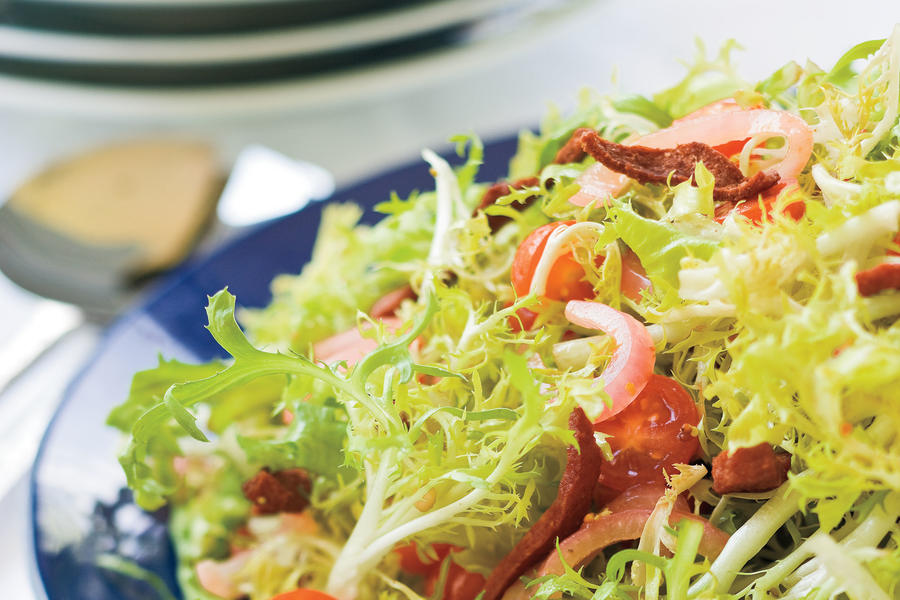 Warm Frise Salad With Crispy Kosher Salami Recipes