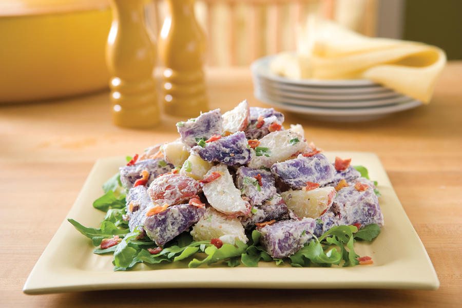 Healthy Food Recipe: Warm Purple-and-Red Potato Toss