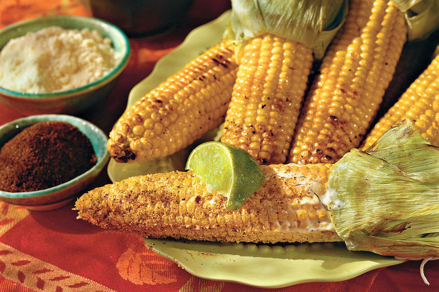 Grilled Corn in the Style of Oaxaca