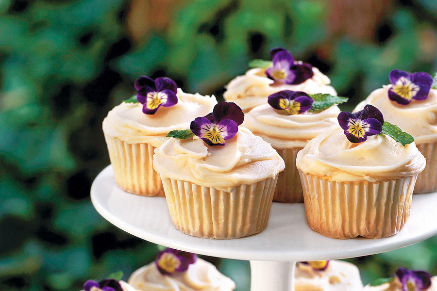 Pound Cake Cupcakes with Browned Butter Frosting