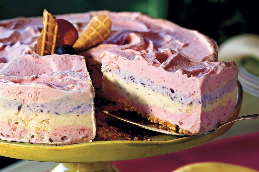 Strawberry Smoothie Ice-Cream Pie Recipes