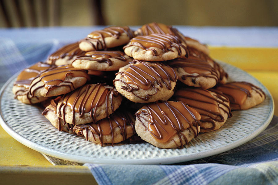 Peanut Butter-Toffee Turtle Cookies Recipes