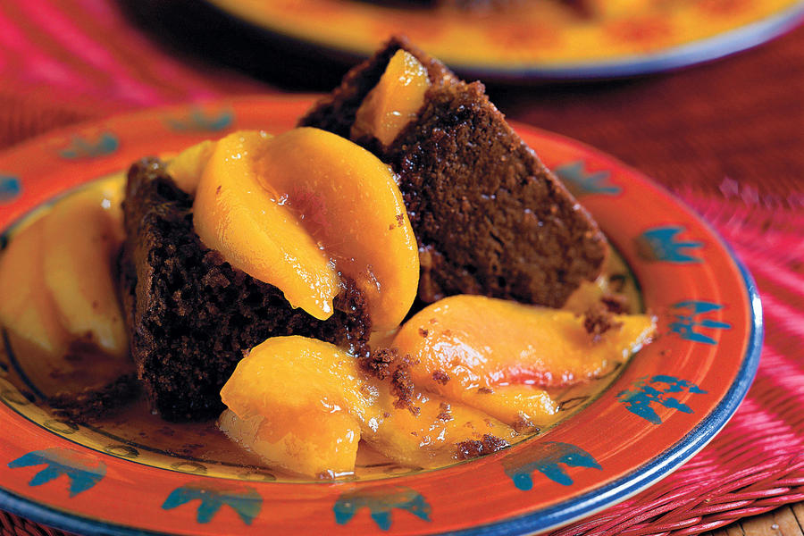 Summer Peach Recipes: Cocoa Bread With Stewed Yard Peaches
