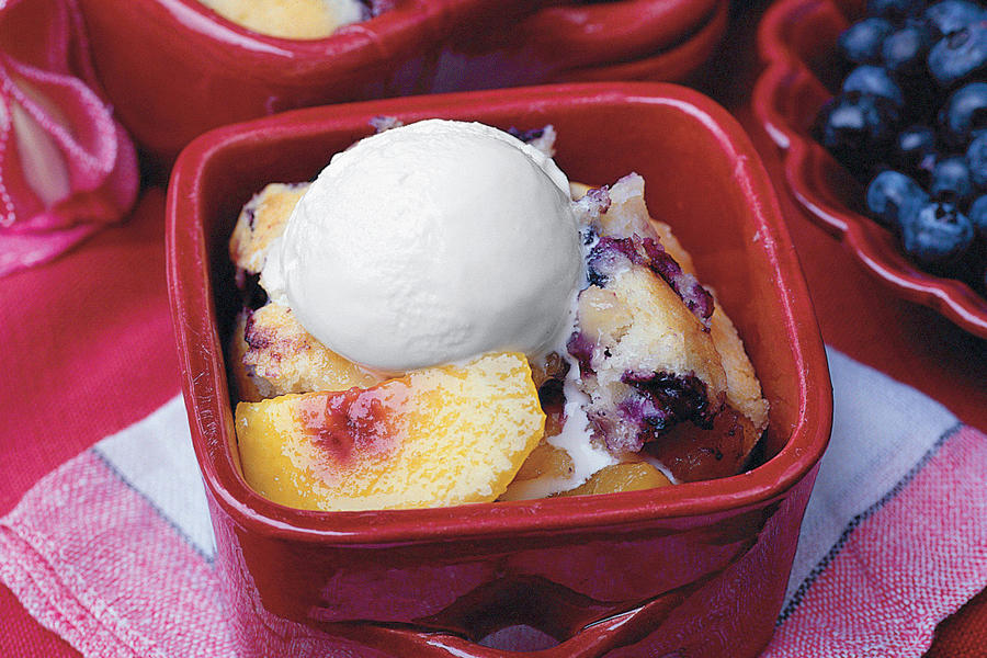 Nectarine Cobbler With Blueberry Muffin Crust Recipe