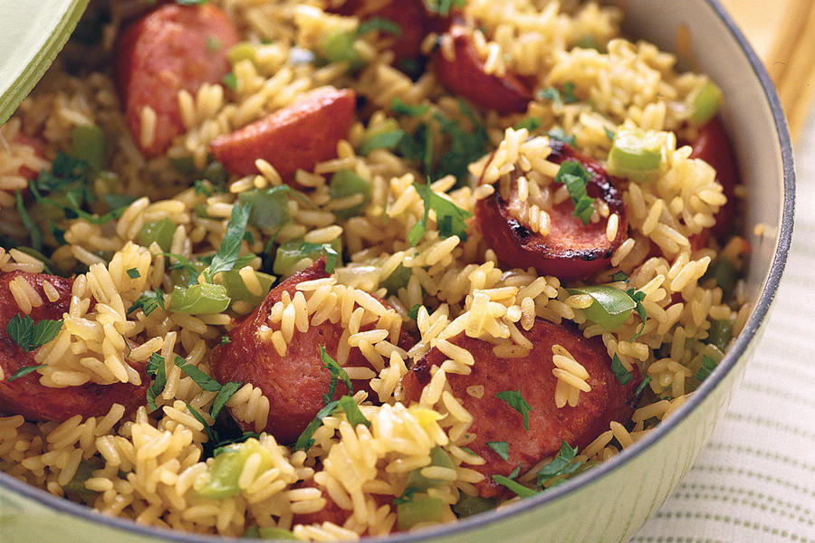 Skillet Sausage and Rice Recipe