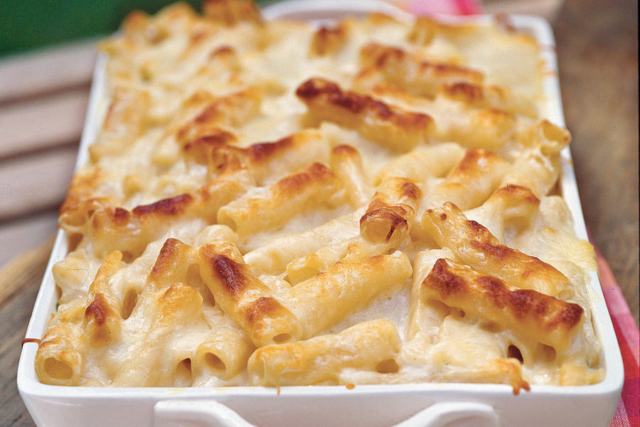 Three Cheese Pasta Bake
