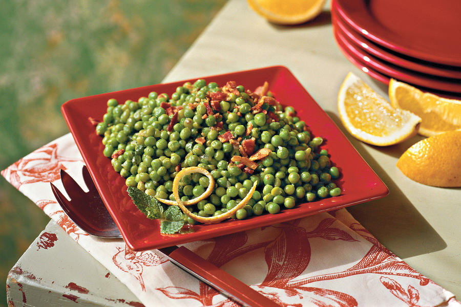 Green Peas with Crispy Bacon