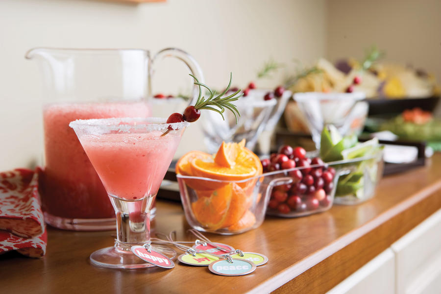 Punch and Cocktail Summer Drink Recipes: Frozen Cranberry Margaritos