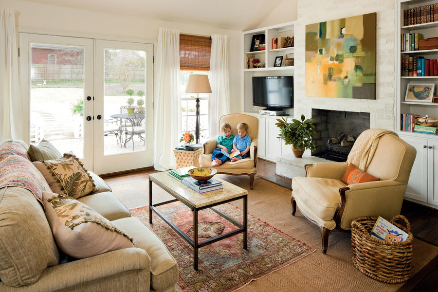 southern living family rooms southern living living rooms 15878