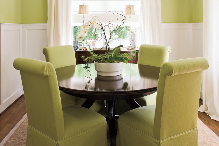 Make A Small Dining Room Look Larger - Stylish Dining Room