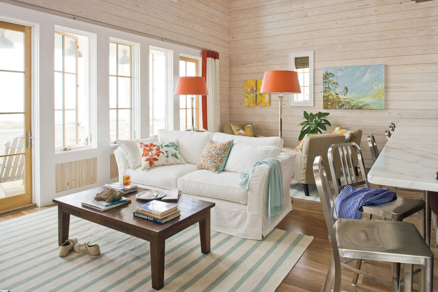 Sunny palette 106 living room decorating ideas southern living