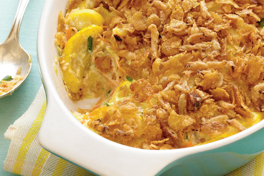 Lightened Squash Casserole