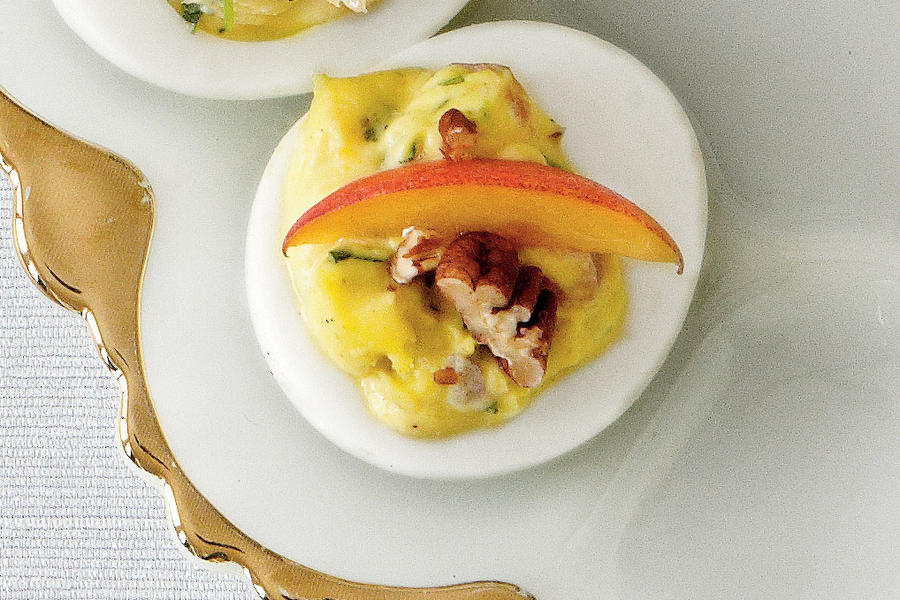 Georgia Peach Deviled Eggs