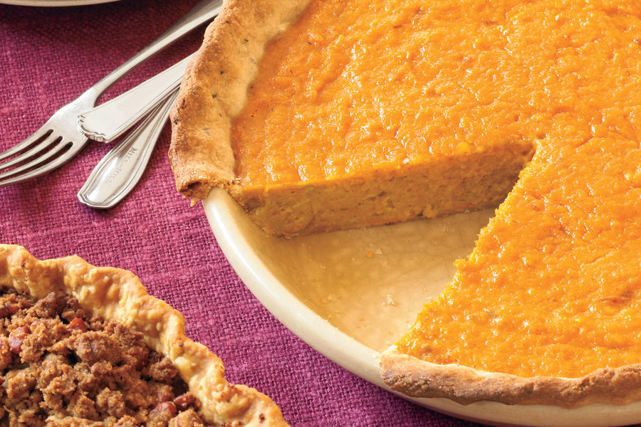Southern Living Pumpkin Recipes: Orange-Sweet Potato Pie With Rosemary-Cornmeal Crust