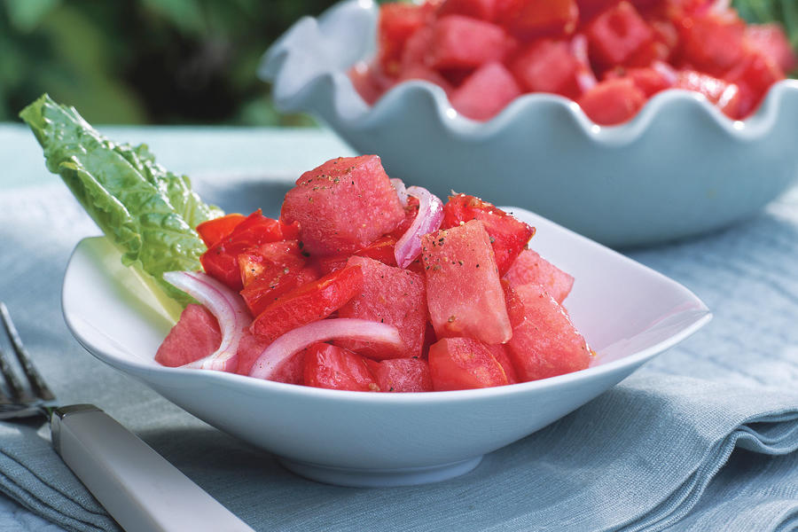 Fourth of July Menu: Tomato-Watermelon Salad