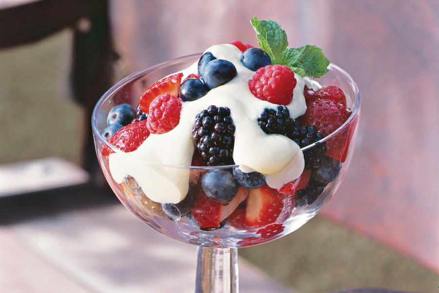 Berries with Tequila Cream Recipes