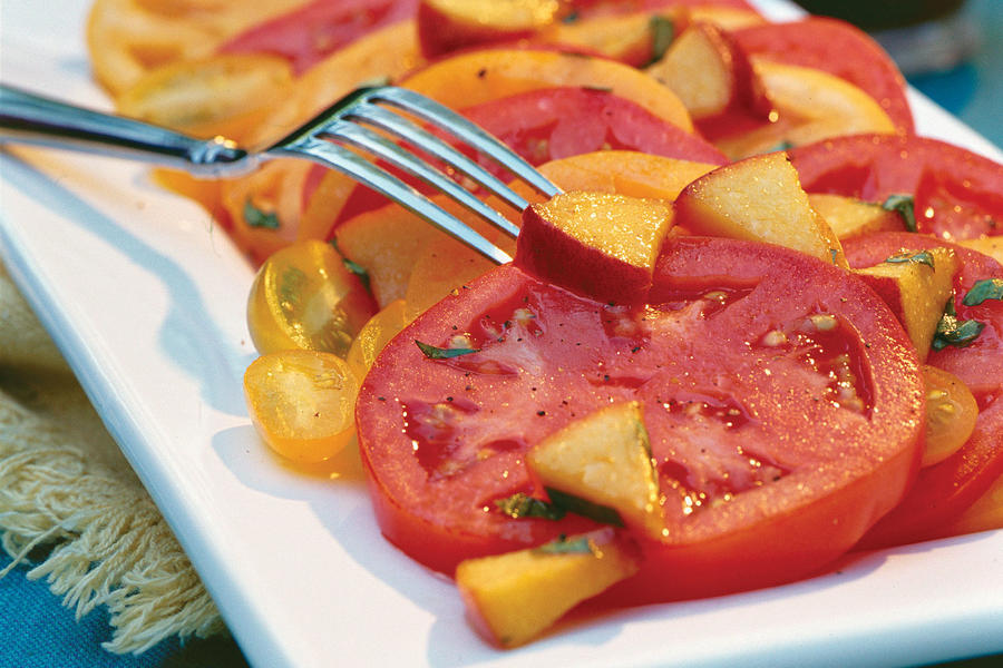 Fresh Peach-Basil Vinaigrette Recipe