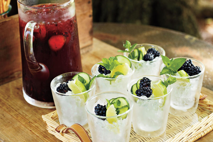 Punch and Cocktail Summer Drink Recipes: Blackberry Cocktail