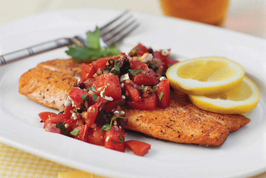 Quick and Easy Dinner Recipes: Pan-Seared Trout With Italian-Style Salsa