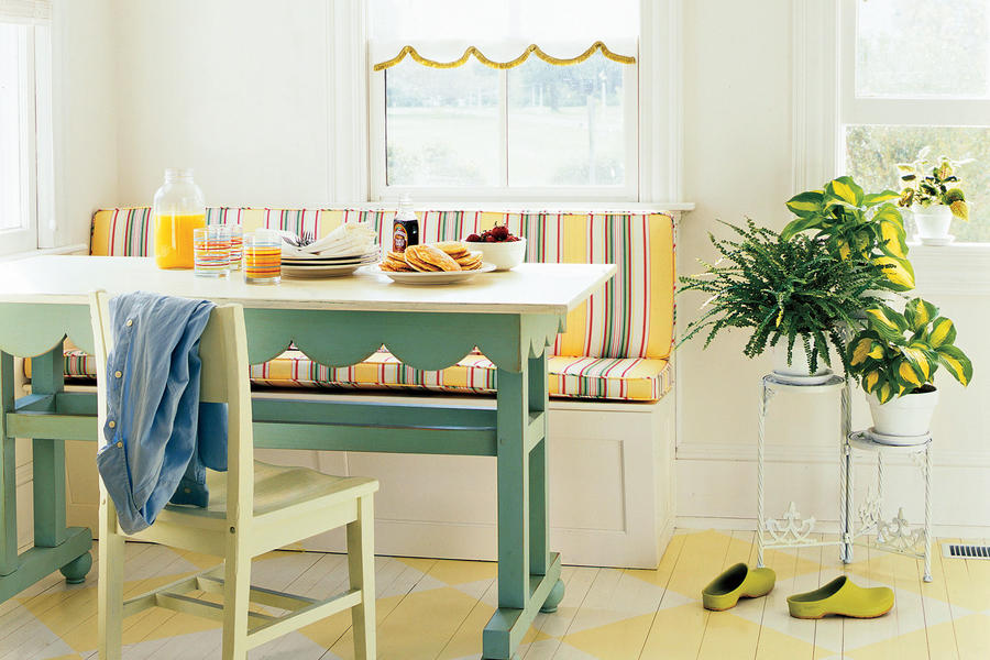 Striped Banquette