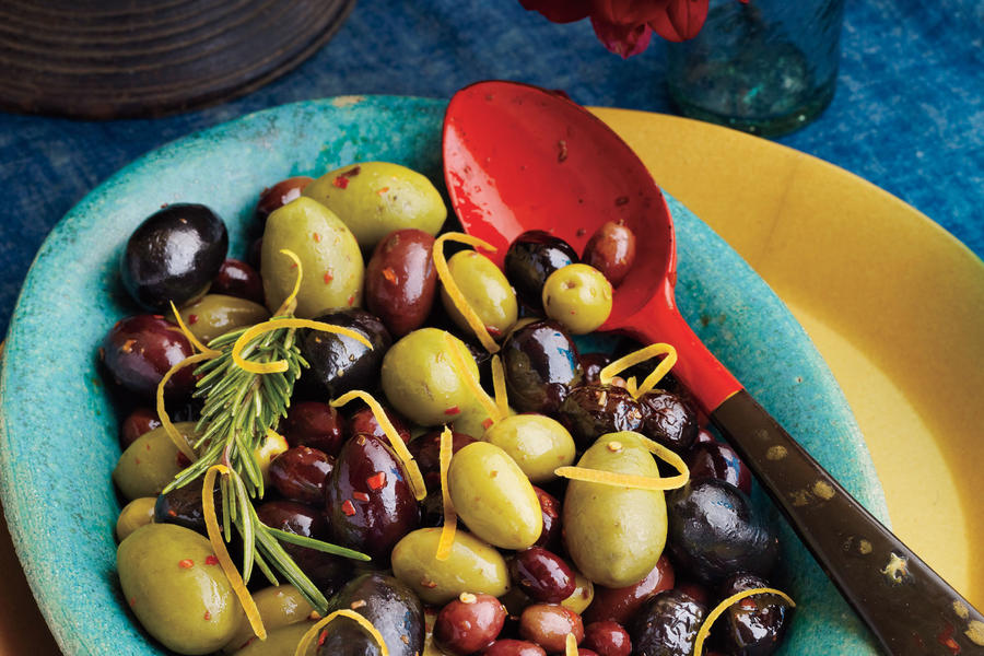 Warm Lemon-Rosemary Olives
