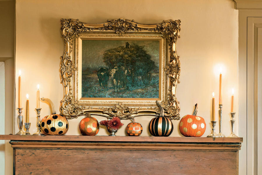 Fancy Pumpkin Display
