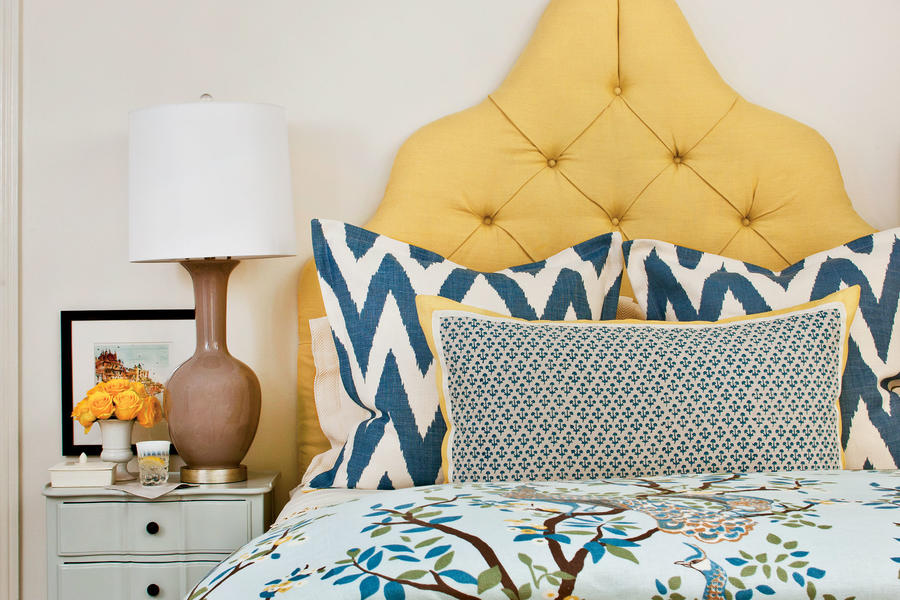 Blue and Yellow Bedding