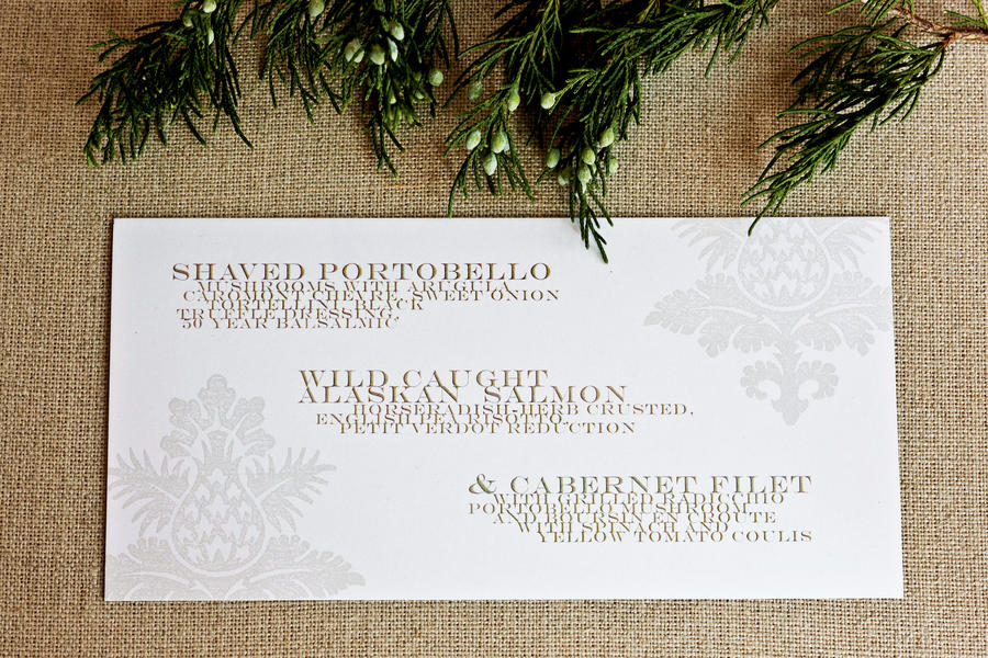 Menu Card Christmas Party Ideas Elegant Dinner Party