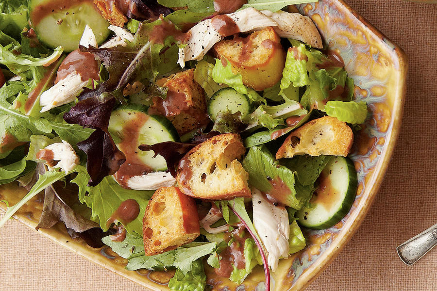 Turkey Salad with Cranberry Dressing