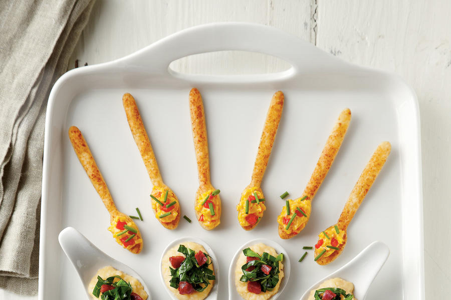 Cracker Spoons with Creamy Pimiento Cheese Recipe