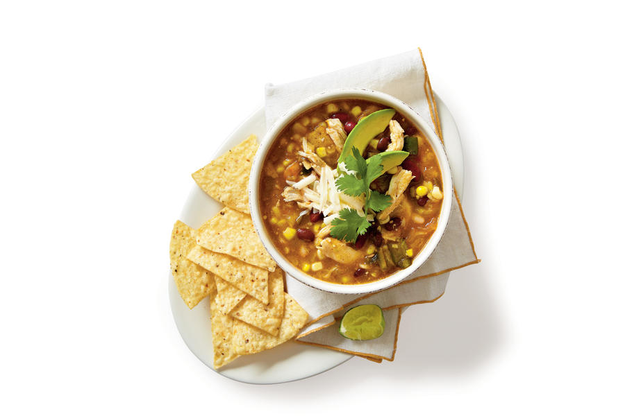 Chicken-and-Three-Bean Chili Verde