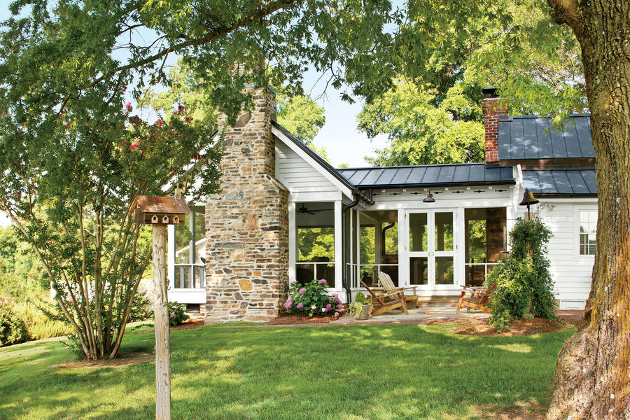 Before and after farmhouse remodel southern living for Farmhouse style homes for sale