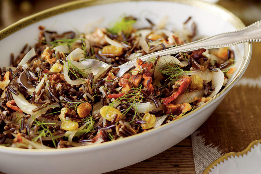 Wild Rice with Bacon and Fennel