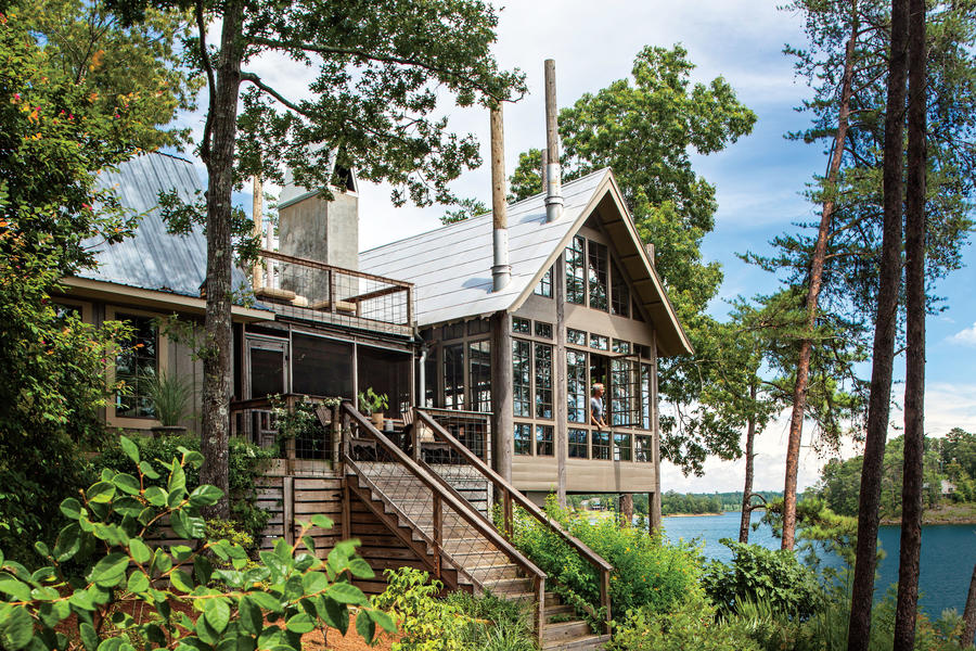 Lake house in the trees southern living for House plans alabama